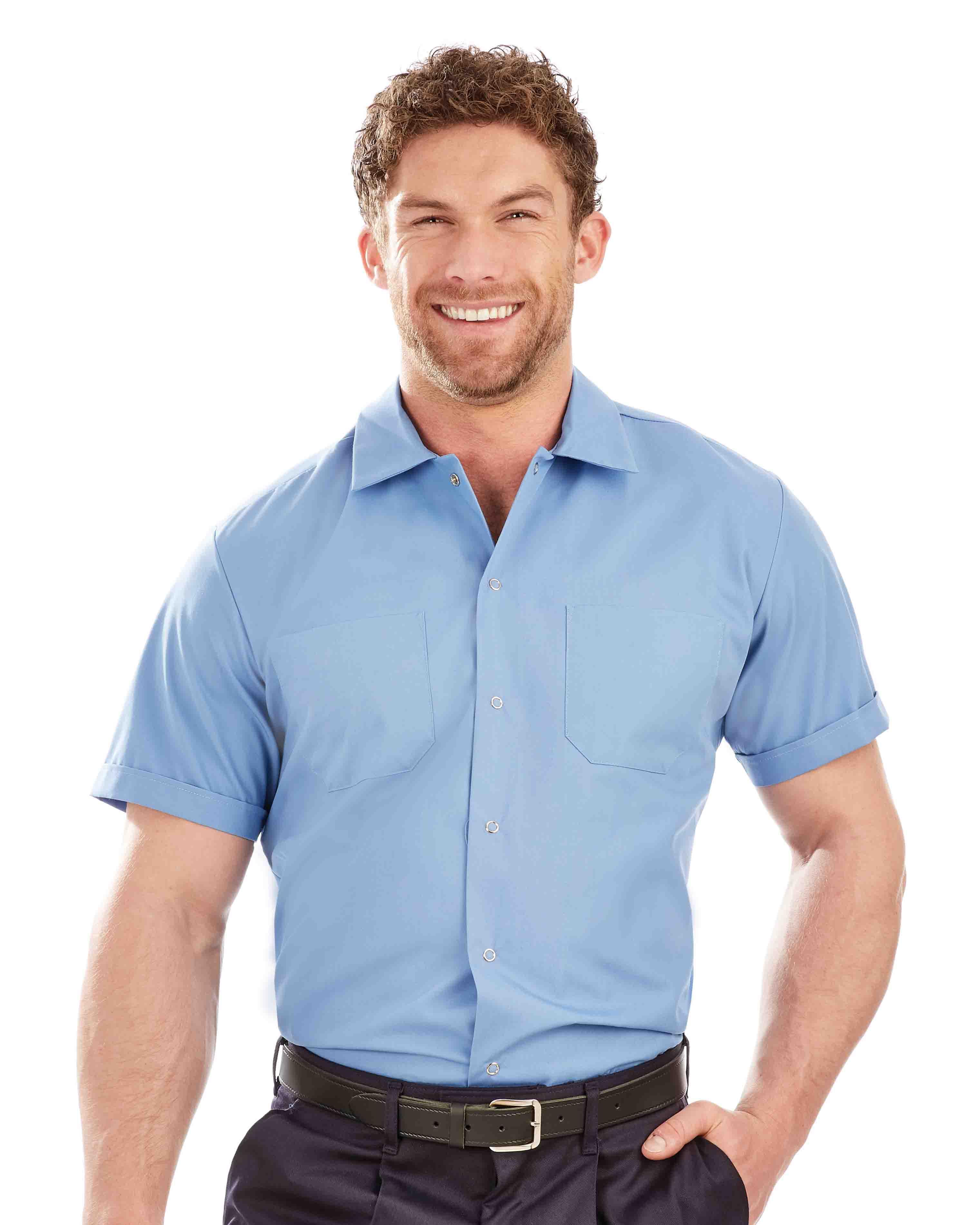 Men's Short Sleeve Twin Pocket Work Shirt