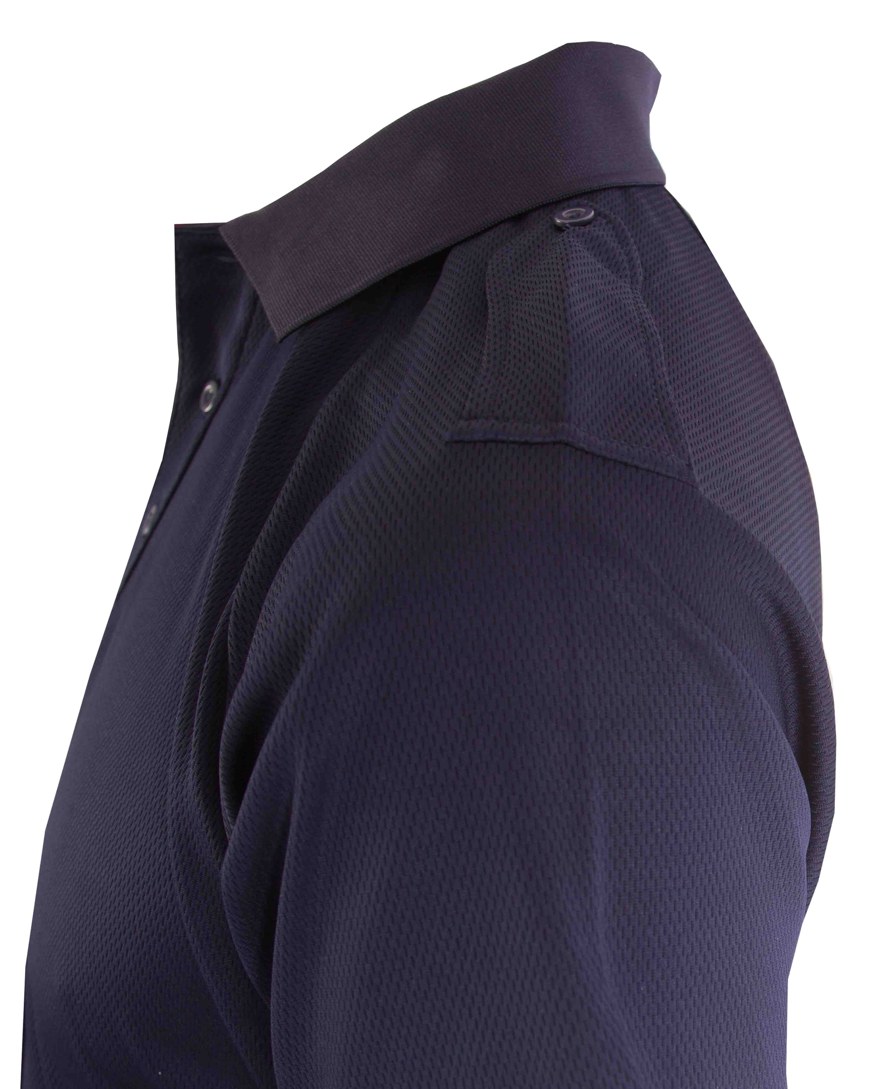 Men's Wicking Polo with Fixed Epaulettes