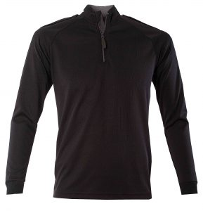 All Climate Long Sleeve Black Wicking Shirt