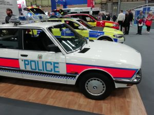 Classic Police Car at the Emergency Services Show