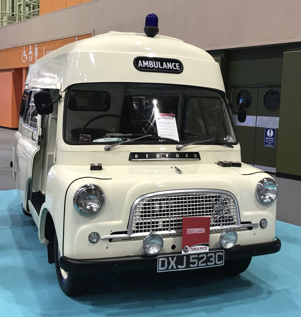 Classic Bedford Ambulance at The Emergency Services Show
