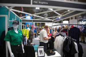 The busy Sugdens stand at the Emergency Services Show