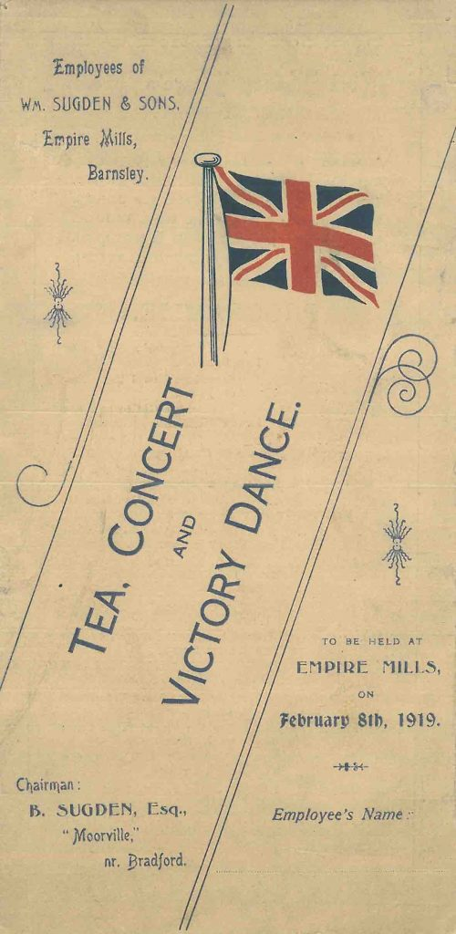 1919 Tea, Concert and Victory Dance Photograph Sugdens Archive