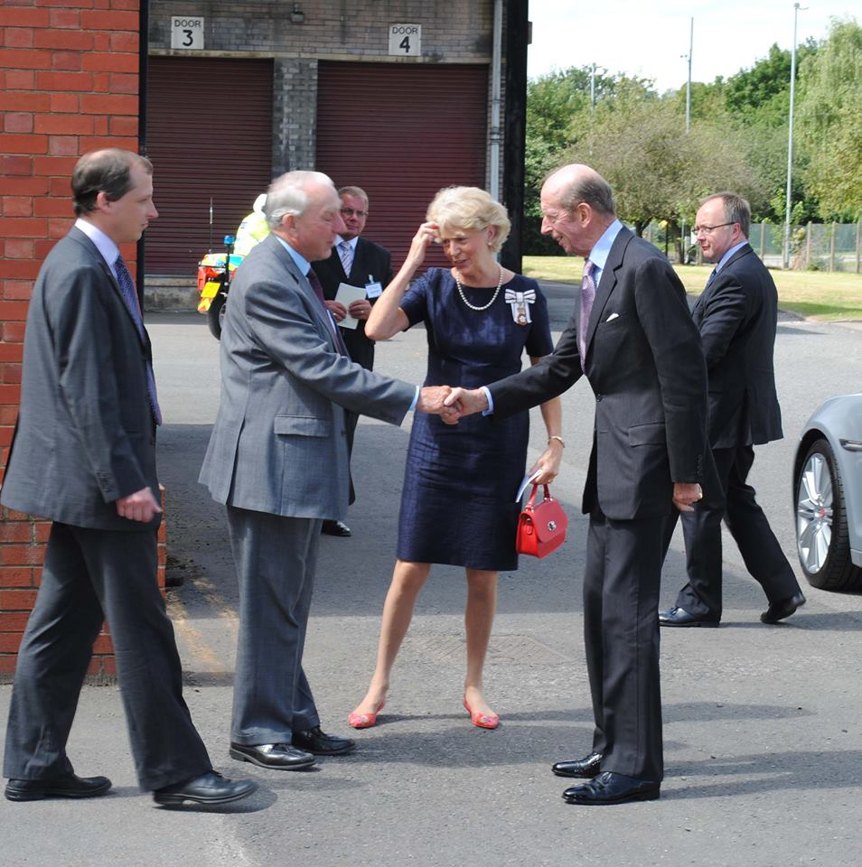 Royal visit to Sugdens and Double TWO home