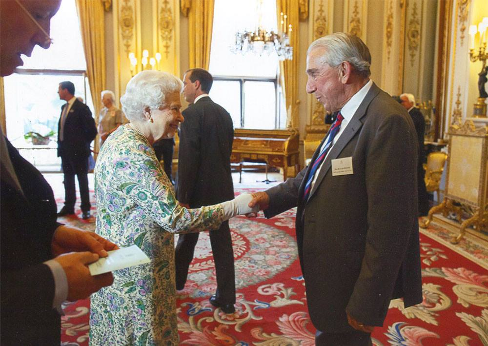 Ricky Donner, Sugdens Director meets the Queen