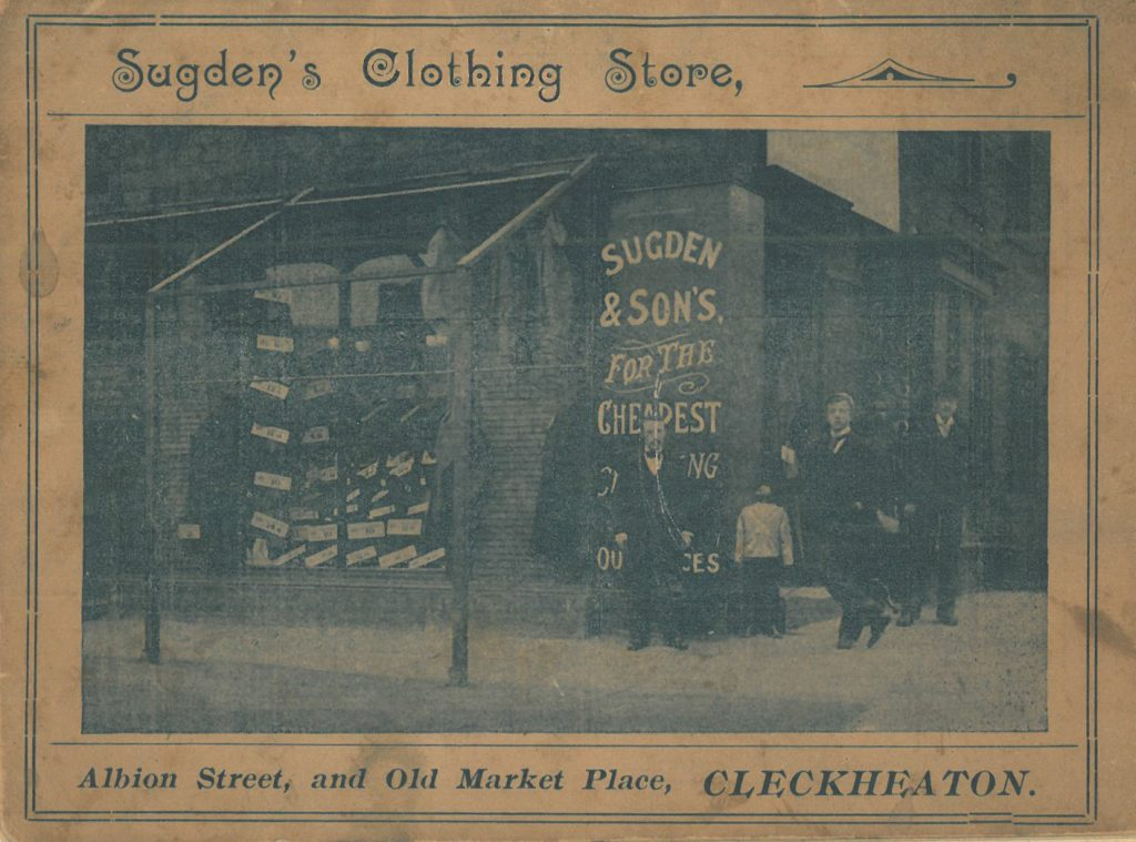Sugdens shop in Albion Street Cleckheaton circa late 1800's